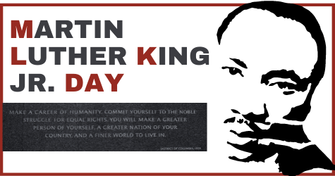 DLR offices Monday, Jan. 18, for  Martin Luther King Jr. Day