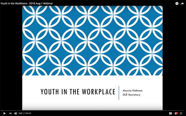Employer Webinar about Youth in the Workforce